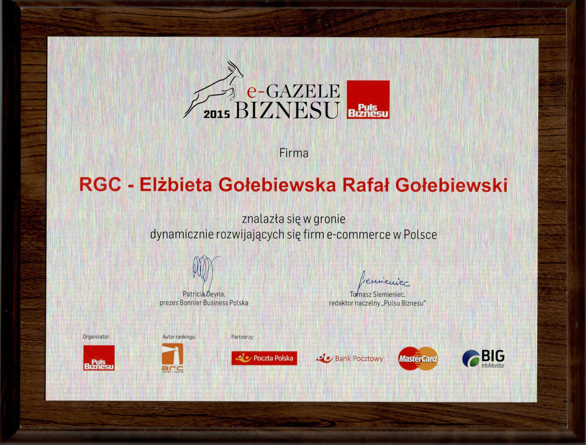 e-Gazela Biznesu 2015