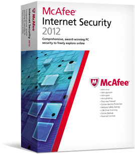 McAfee Internet Security 2012 ESD (3 Stan/12 mc) MIS12QMB3RAA